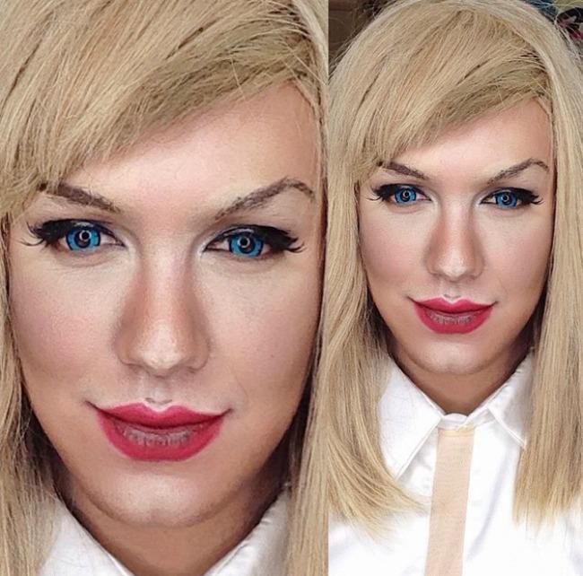 Šta sve može šminka Muškarac kao ženske zvede Tejlor Svift Šta sve može šminka: Muškarac kao ženske zvezde