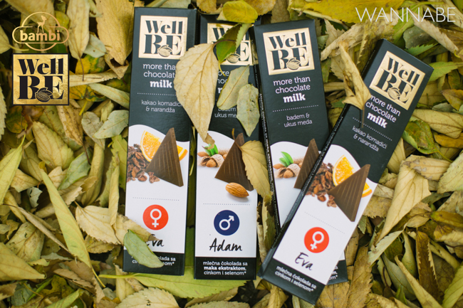 Bambi modni predlog Wannabe 23 WellBE: Nove Bambi čokolade za topliju jesen