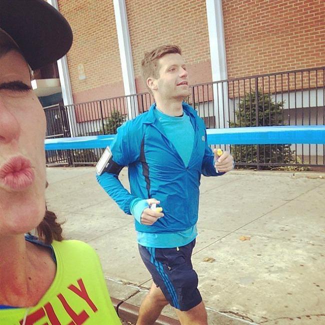 Boyfriend Selfiji sa maratona