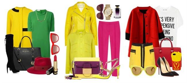 Colour blocking žuta Jarke boje: Zimsko izdanje