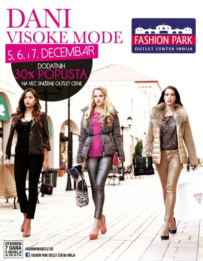 Fashion Park Outlet Centar Indjija dani visoke mode Dani visoke mode u Fashion Park Outlet Centru Inđija