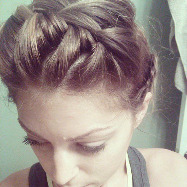 Headband Braid Najbolje frizure za trening