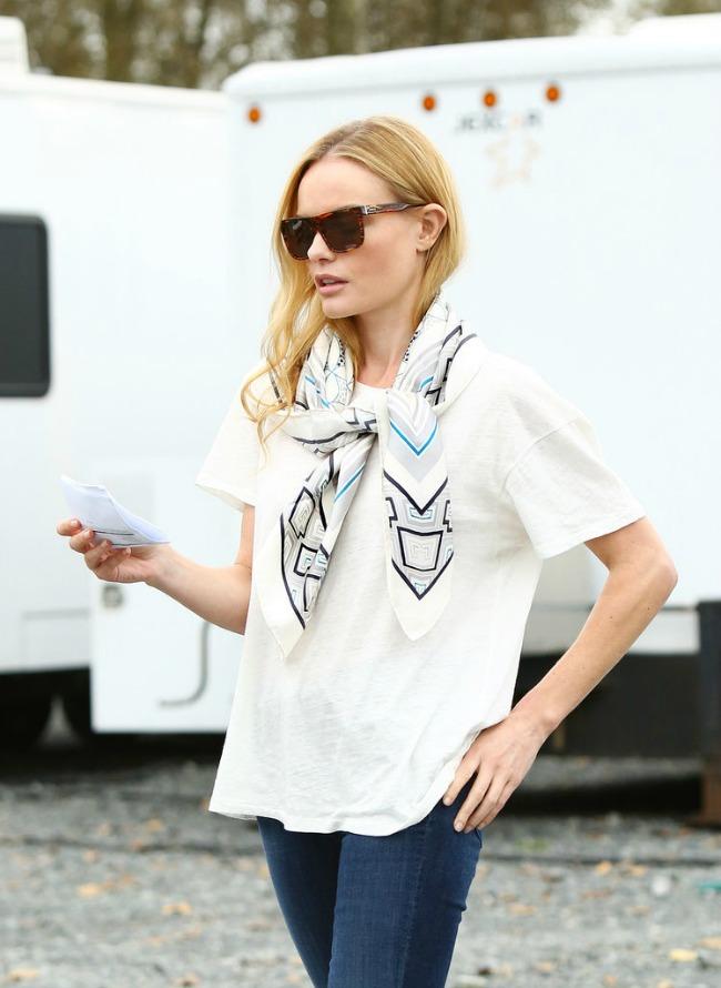 Kate Bosworth Nosite ešarpu kao zvezda