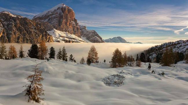 dolomiti Najlepši predeli sveta zimi