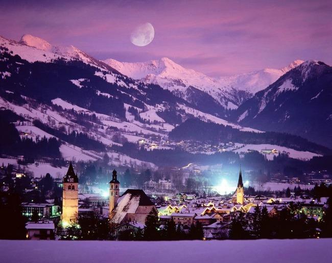 kicbuhel Najlepši predeli sveta zimi