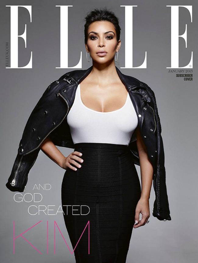 kim kardasijan na naslovnici magazina elle uk 1 Kim Kardašijan na naslovnici magazina Elle UK