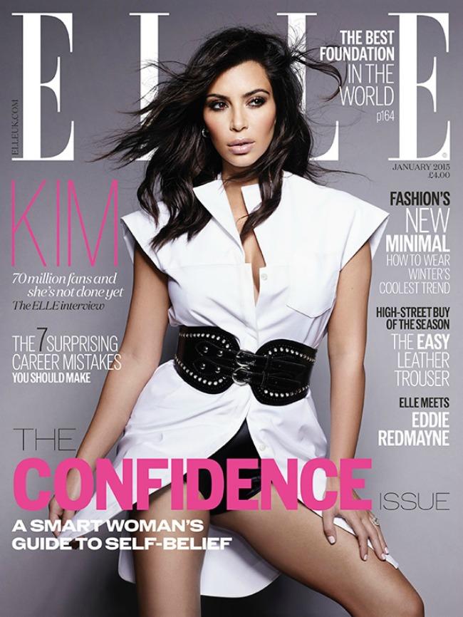 kim kardasijan na naslovnici magazina elle uk 2 Kim Kardašijan na naslovnici magazina Elle UK