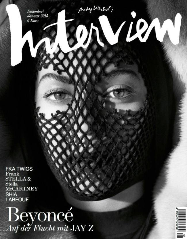 maskirana bijonse na naslovncii magazina interview 1 Maskirana Bijonse na naslovnici magazina Interview