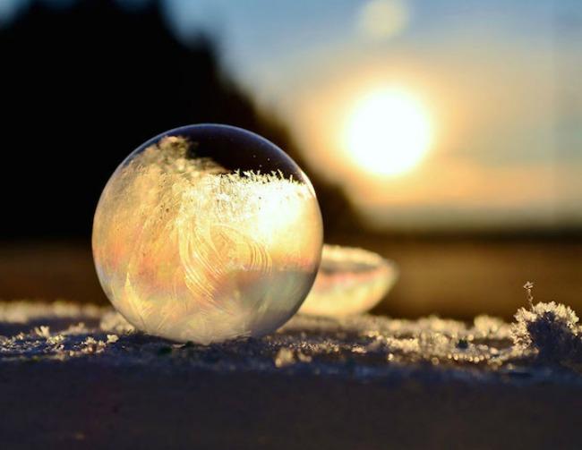 smrznuti mehurici 7 Mehurići od pene kao zimska umetnost