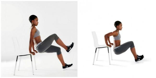 2 vezbe sa stolicom 1 Savršen trening kod kuće