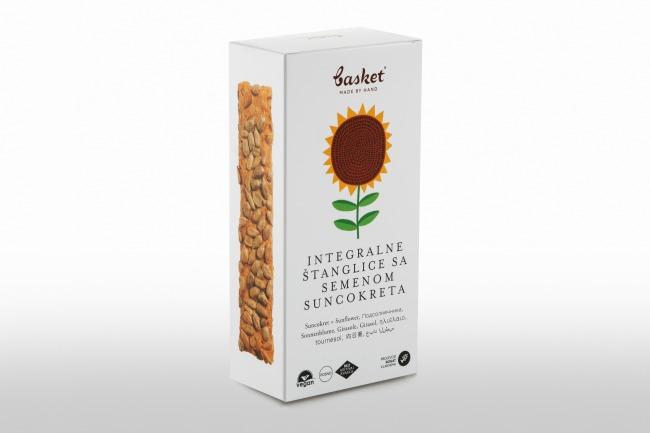 Basket suncokret Basket integralne štanglice sa semenom bundeve i semenom suncokreta…hrskavo i sočno!
