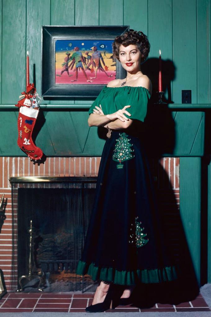 Legendarne praznične odevne kombinacije Ava Gardner Legendarne praznične odevne kombinacije
