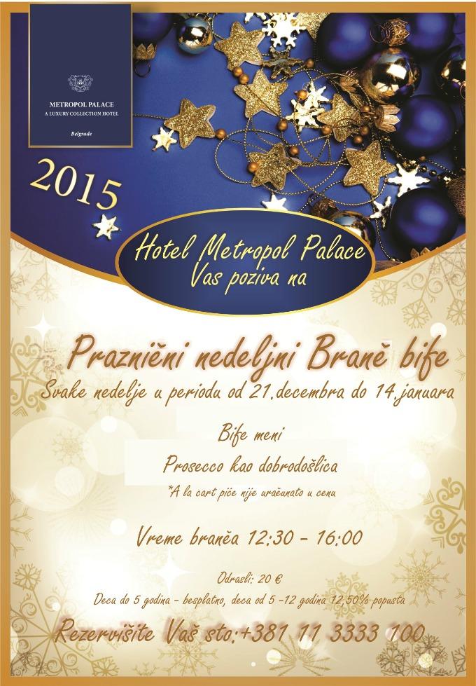 Metropol Palace Holiday Brunch Serbian Vreme je za praznični brаnč
