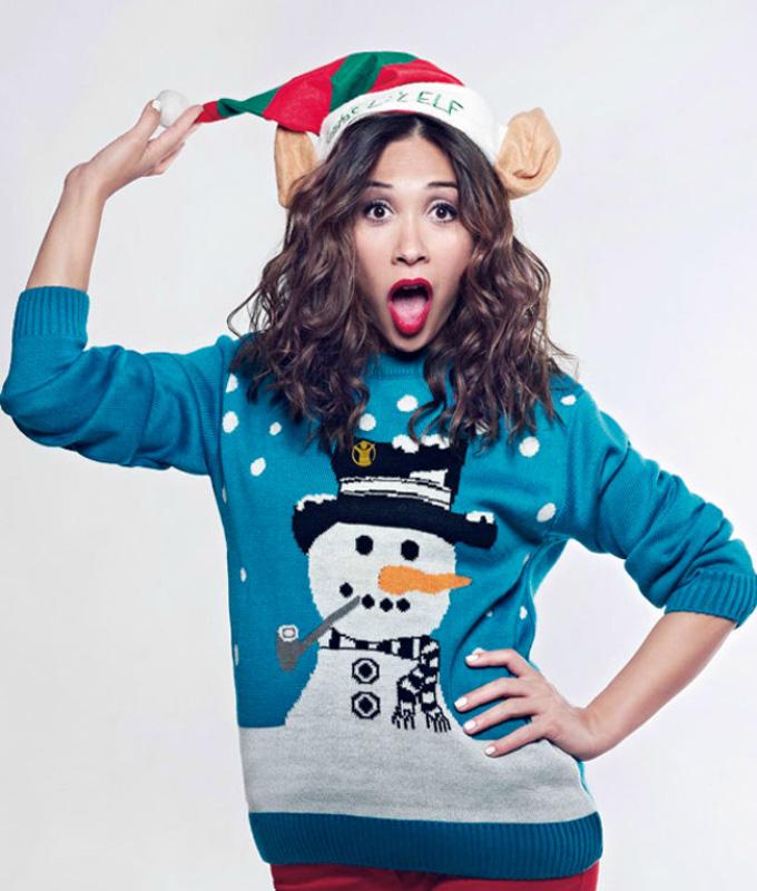 Plavi Šta obući ove nedelje: Džemperi sa novogodišnjim motivima