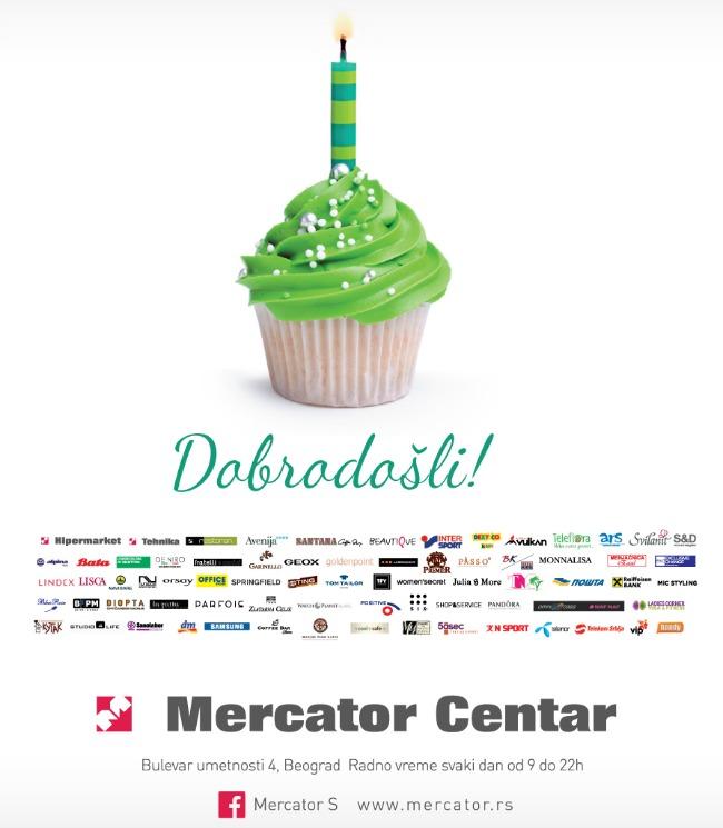 Rodjendan Mercator Centra Beograd flajer Mercator: Popusti i zabava povodom 12. rođendana!