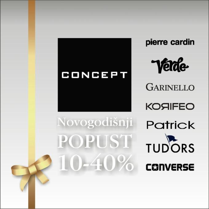 Wannabe CONCEPT 11 CONCEPT: Novogodišnji popust od 10% do 40%