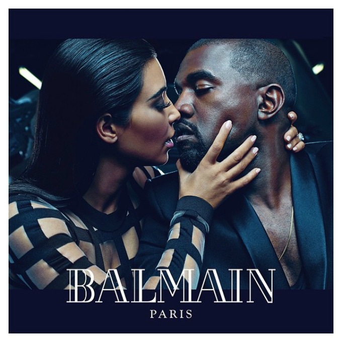 kim kardashian Kanye west Kim Kardašijan i Kanje Vest u kampanji za Balmain