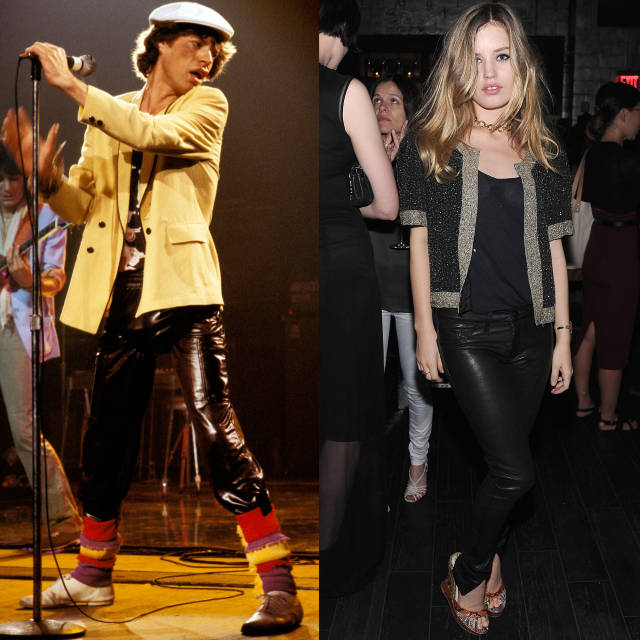 mik dzeger i dzorzija mej dzeger Kožne pantalone: Najbolji momenti u pop kulturi