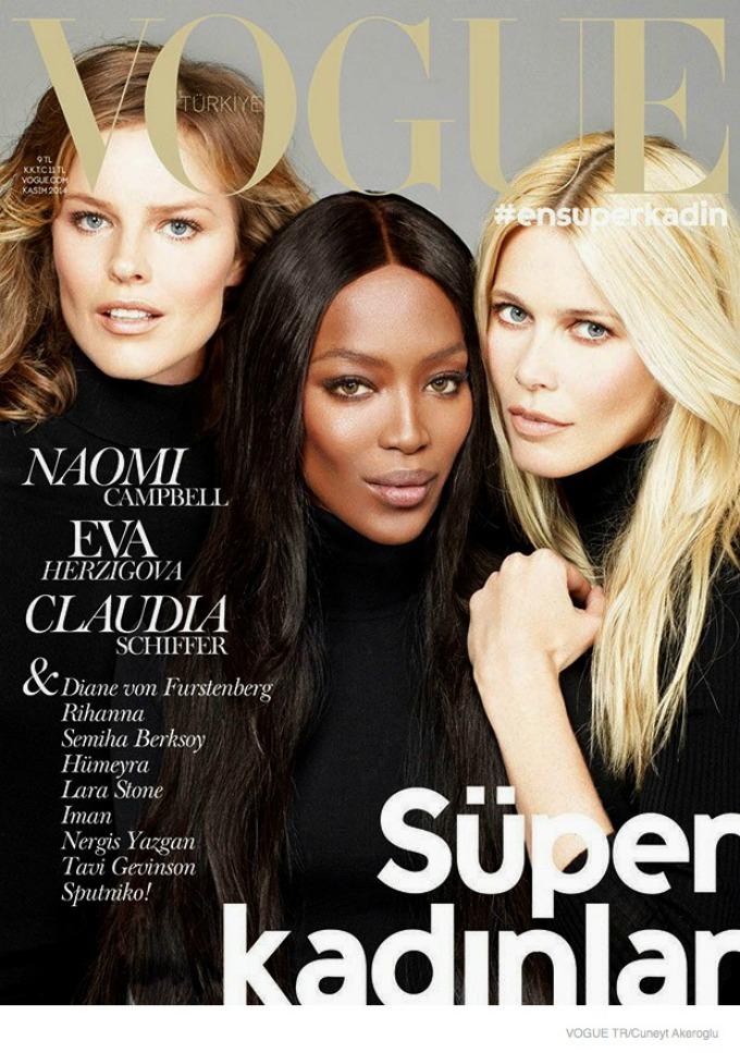 najbolje vogue naslovnice u 2014 godini naomi klaudija i eva Najbolje Vogue naslovnice u 2014. godini