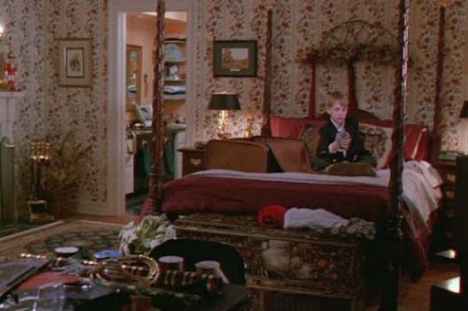 spavaća soba nekad Dom iz filma Sam u kući nekad i sad