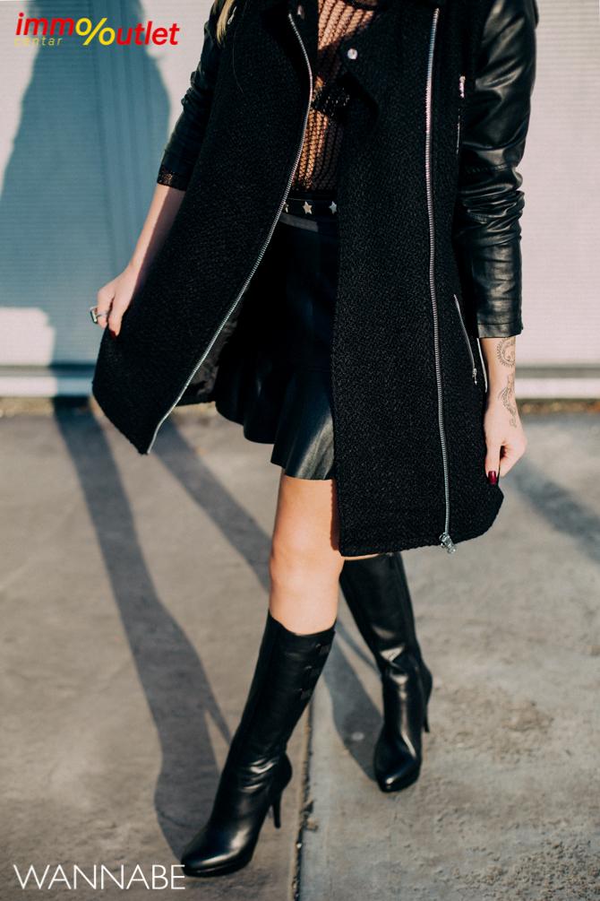 Fashion predlog Immo outlet center Wannabe Ana Maksimovic 9 Modni predlozi iz Immo Outlet Centra: Crna kakvu želimo