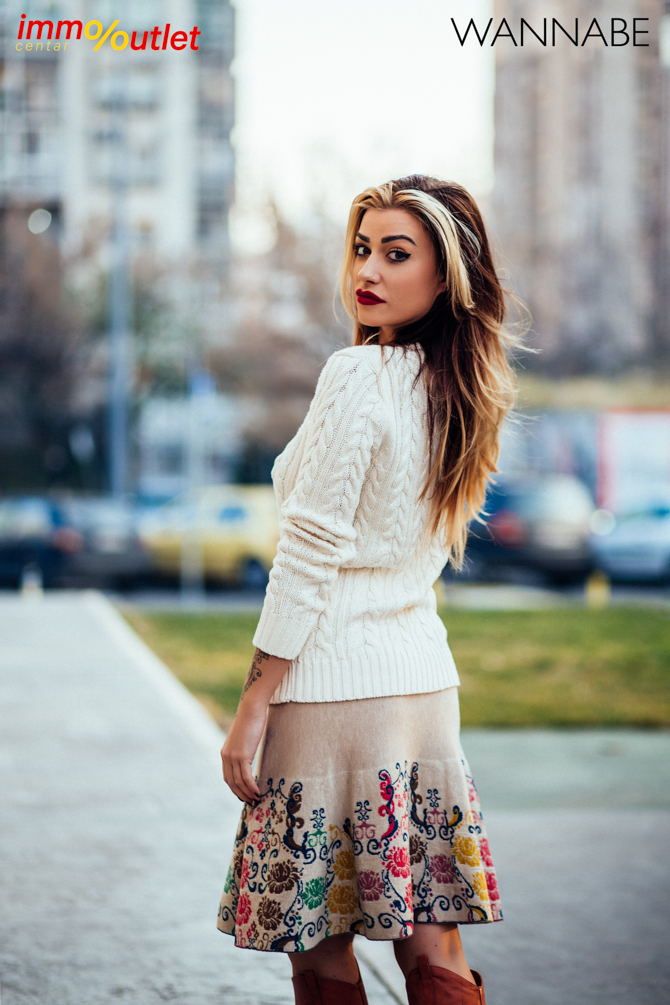 Wannabe fashion predlog Immo outlet center Wannabe blogger 46 Modni predlozi iz Immo Outlet Centra: Braon čizme na još jedan način