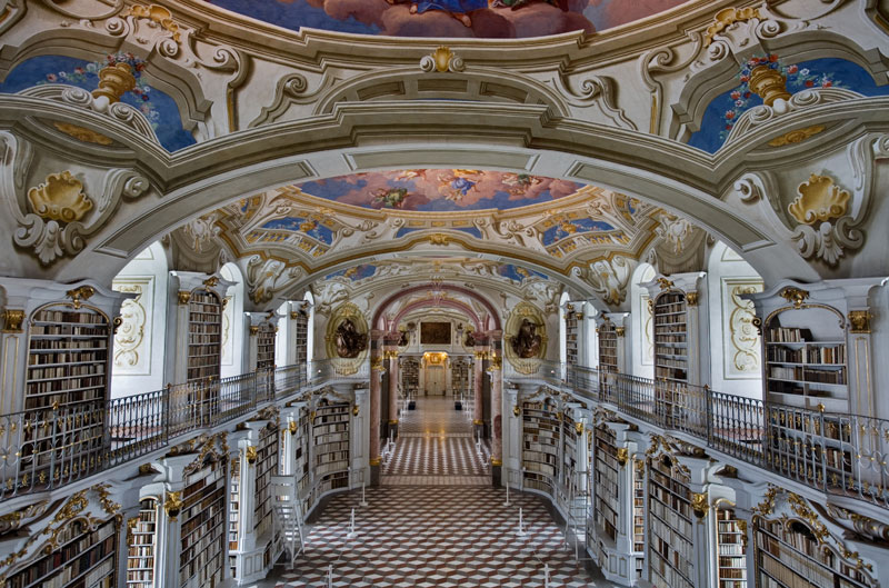 admont abbey monastery library austria 1 Najlepše biblioteke sveta: Admont Opatija, Austrija