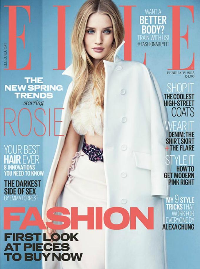 rouzi hantington vajtli 1 Rouzi Hantington Vajtli na naslovnici britanskog Elle a