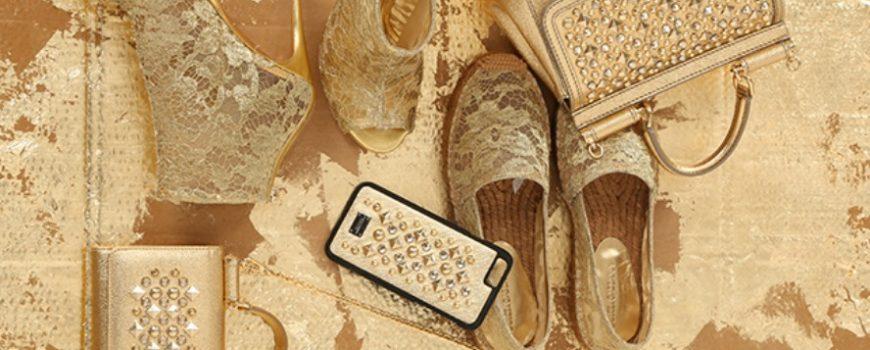 Zlatna kolekcija modnih dodataka brenda Dolce & Gabbana