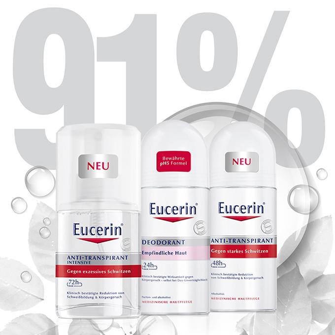 Eucerin Deo linija Eucerin nudi rešenje protiv suvišnog i prekomernog znojenja