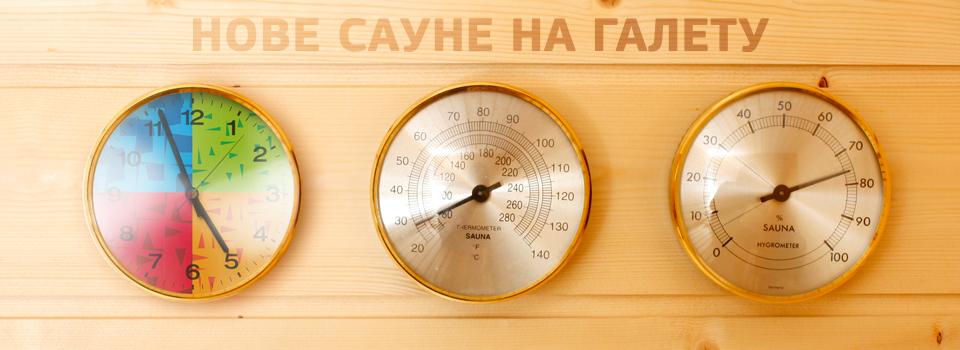 Nove saune na Galetu Besplatno uživanje u novim saunama na Galetu