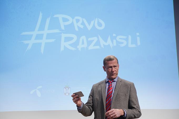 Uve Fredhajmgeneralni direktor Telenora Predstavljen nastavak projekta Zaustavimo digitalno nasilje