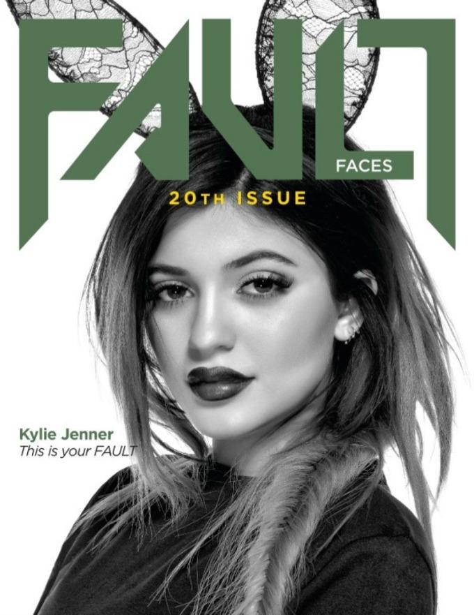 kajli dzener na naslovnici magazina fault 1 Kajli Džener na naslovnici magazina Fault