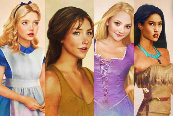 princeze Crteži koji su oživeli Diznijeve princeze