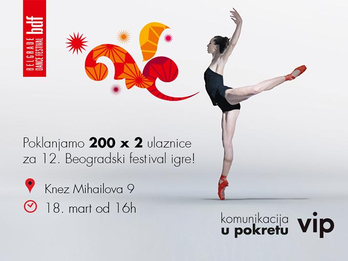 Podela karata Vip poklanja 400 karata za Beogradski festival igre