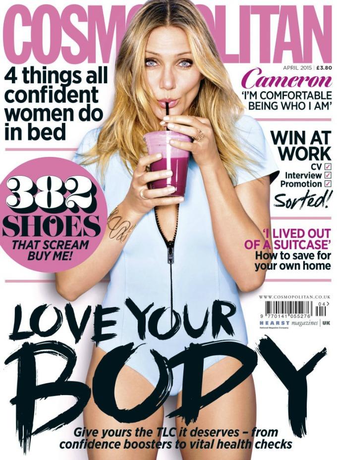 kameron dijaz u aprilskom izdanju magazina cosmopolitan uk 1 Kameron Dijaz krasi aprilsko izdanje magazina Cosmopolitan UK