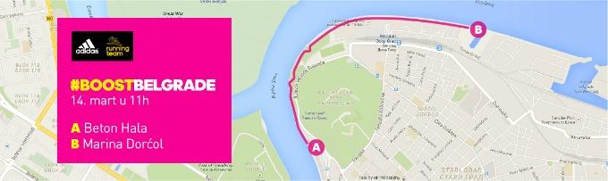 mapa Trkači osvajaju Beograd