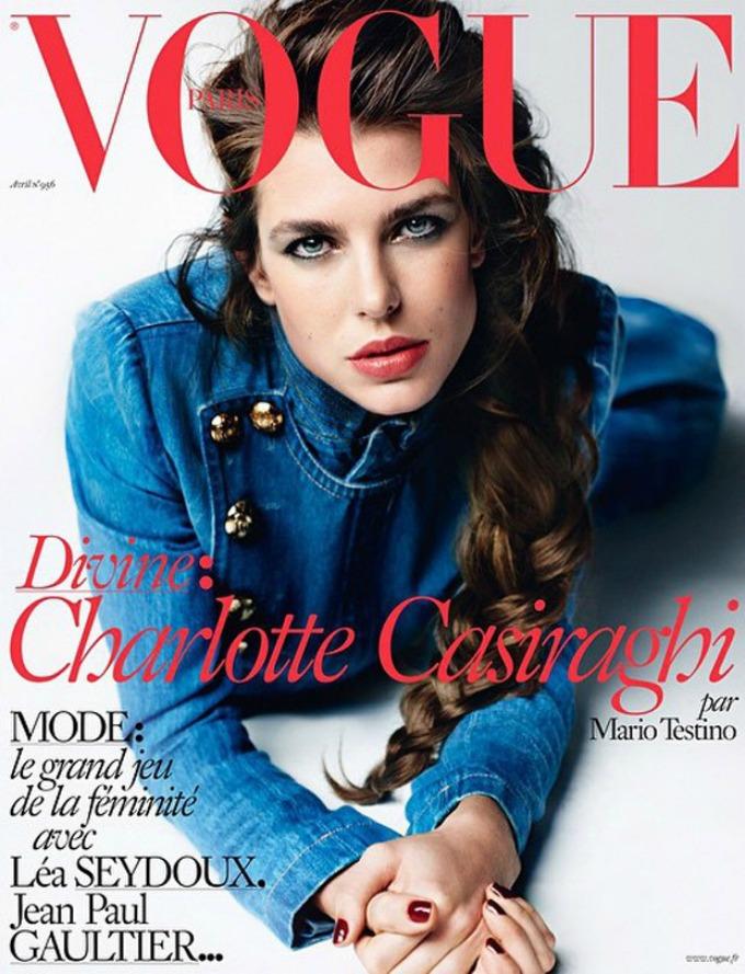 sarlot kaziragi na naslovnici magazina vogue paris 1 Šarlot Kaziragi na naslovnici magazina Vogue Paris