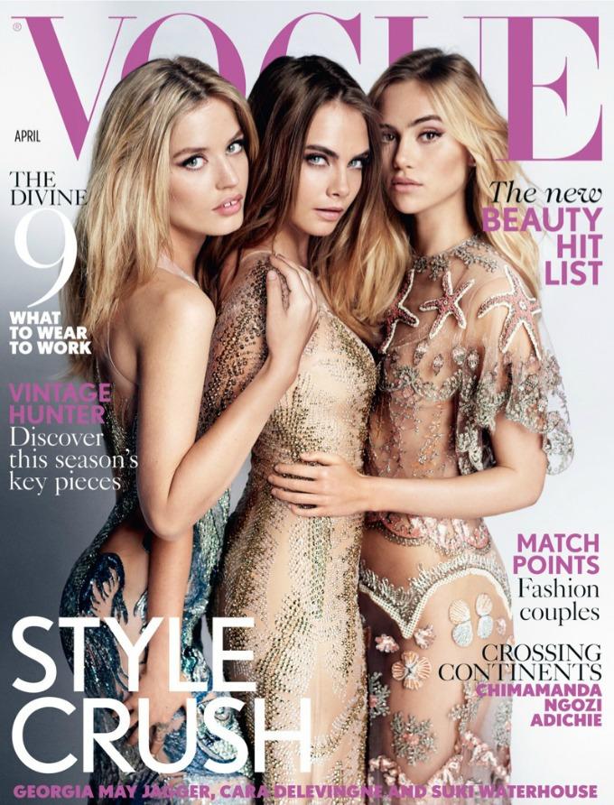 tri gracije na naslovnici magazina vogue uk 1 Tri gracije na naslovnici magazina Vogue UK