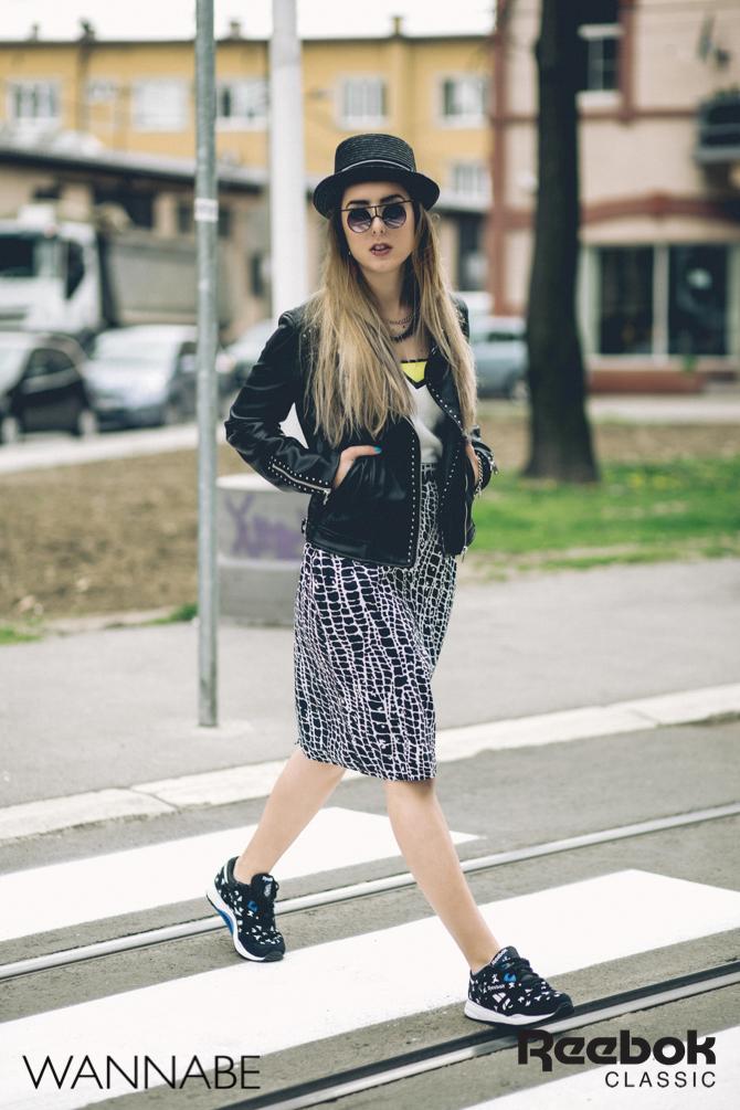 1 Rebook DJ Prema Unja Green Wannabemagazine 492 Reebok Classic modni predlog: Ponesi patike i suknju