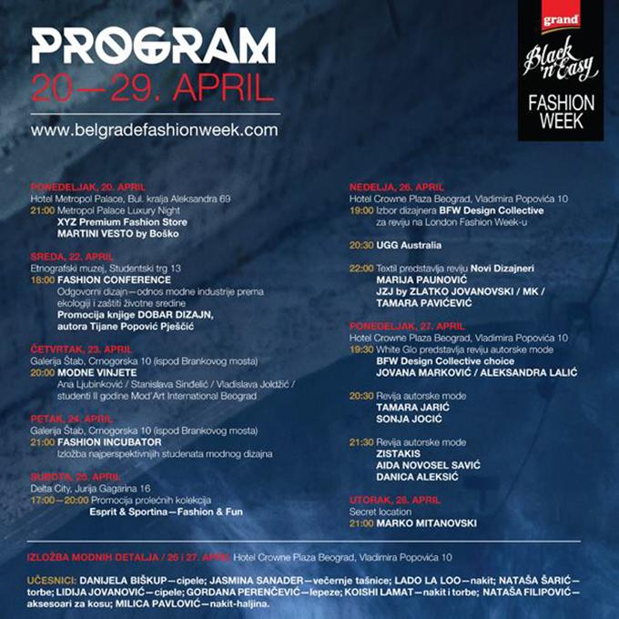 37 bfw program Večeras počinje Black N Easy Fashion Week