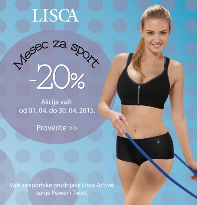 Lisca Active LISCA: Zabavno i aktivno u aprilu, 20% povoljnije