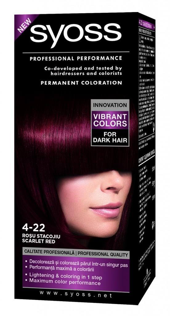 Syoss Vibrant1 552x1024 Posvetljivanje i bojenje tamne kose u jednom koraku