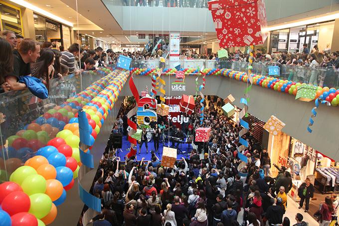 USCE Zamisli zelju proslava Svečano zatvaranje rođendanskog meseca Ušće Shopping centra