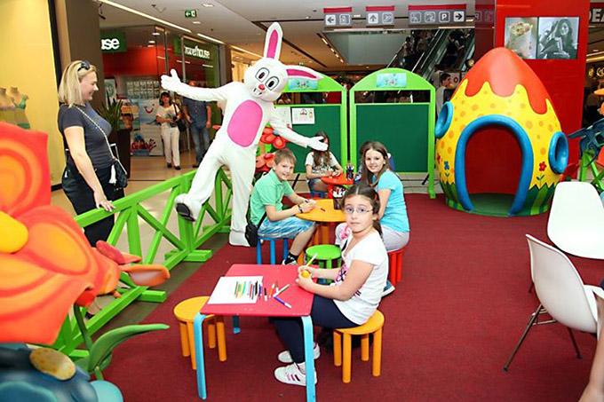 Uskrsnje radosti u USCE SC 1 Uskršnje radosti za decu u Ušće Shopping Centru