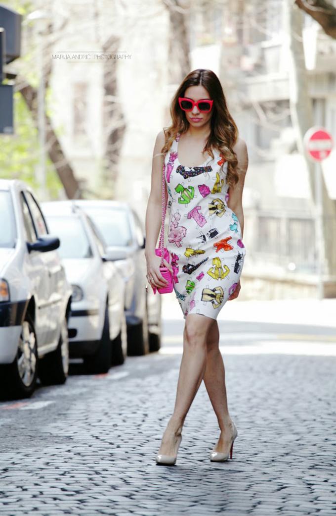 bela print haljina lili mitrovic Modne blogerke predlažu: Must Have komadi za proleće