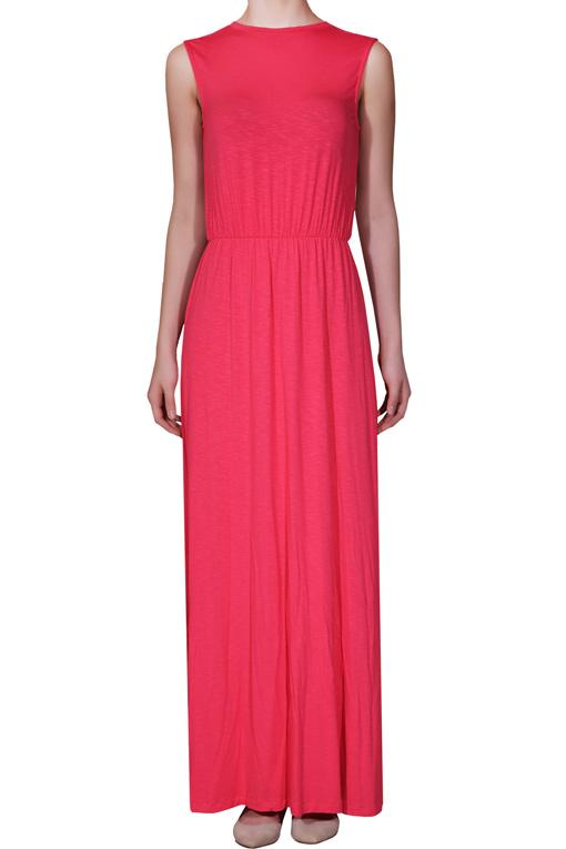 ciklama haljina Legend trend: Maksi haljina i pastel
