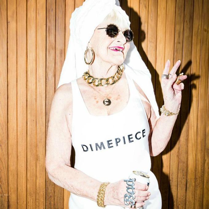 dimepiece 2 Zaštitno lice jedne modne kampanje je 86 godišnja baka