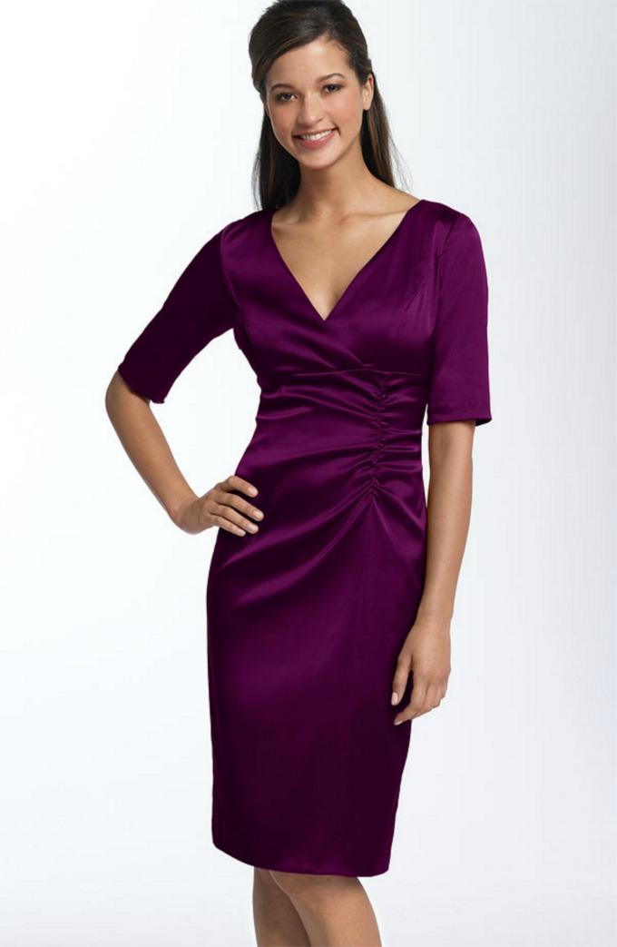 ljubicasta haljina Vodič kroz poslovni stil: Haljine