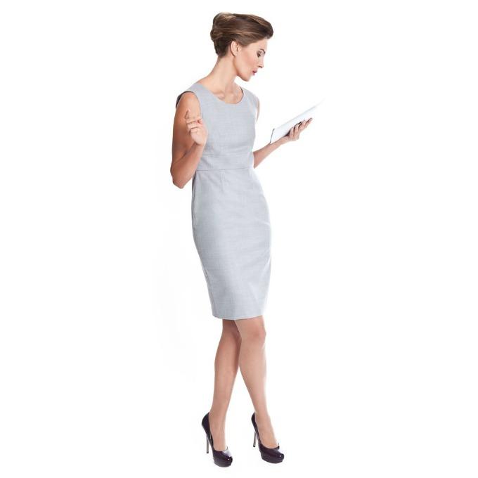 siva haljina Vodič kroz poslovni stil: Haljine